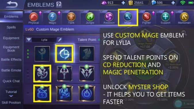 Mobile Legends Lylia Emblem Set