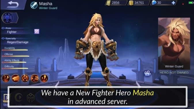 New Fighter Hero Masha Skills Fully Explained Mobile Legends Masha