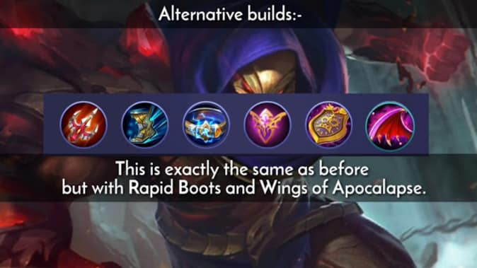 Mobile Legends Aldous Alternative Build