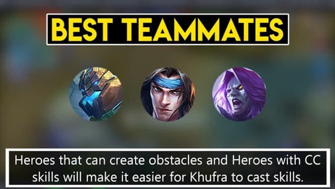 Mobile Legends Khufra Best Teammates