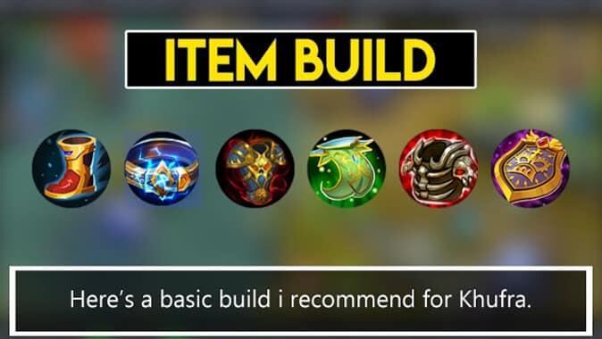 Mobile Legends Khufra Item Build