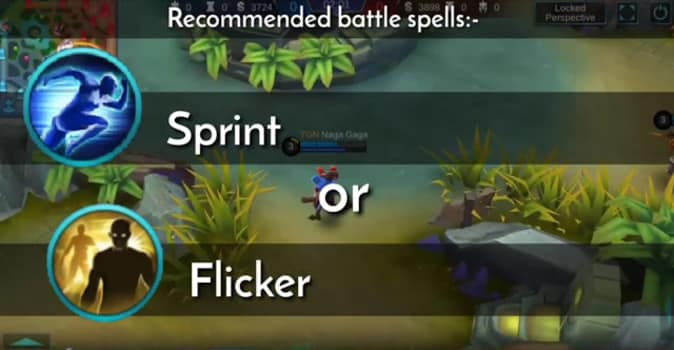 Recommended Battle spell- Sprint or Flicker