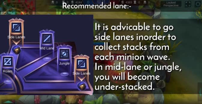 Recommended lane
