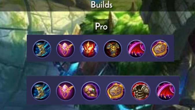 Mobile Legends Grock Pro Builds