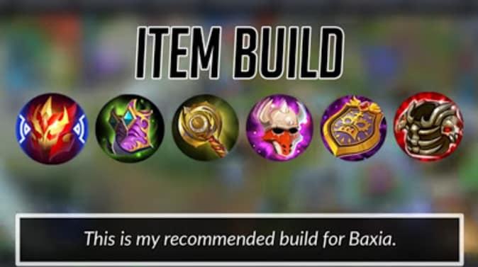 Mobile Legends Baxia Item Build