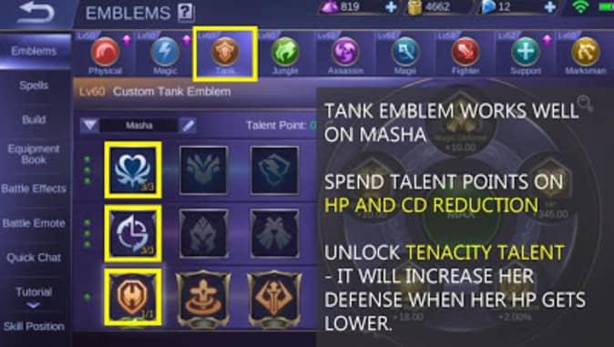 Mobile Legends Masha Emblem Set