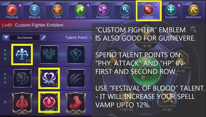 Mobile Legends Guinevere Emblem Set 2