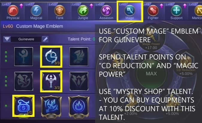 Mobile Legends Guinevere Emblem Set