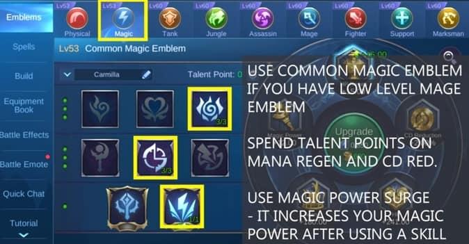 Mobile Legends Carmilla Emblem MAGIC