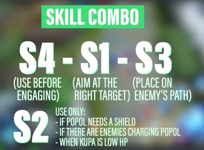 Mobile legends Popol and Kupa SKILL COMBO