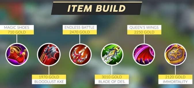 Mobile Legends Yu Zhong (Item Build) 1