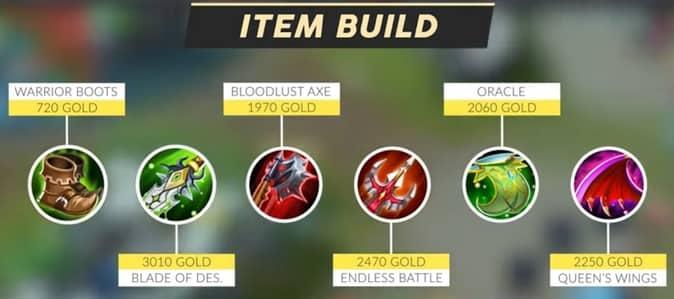 Mobile Legends Yu Zhong (Item Build) 2