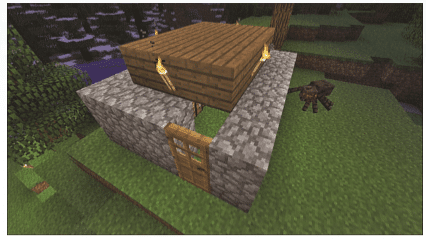 Minecraft Finished Hut