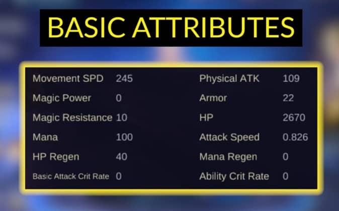 Mobile Legends Kimmy - Basic attributes
