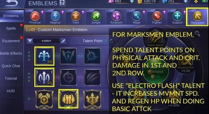 Mobile Legends Kimmy Best -Emblem