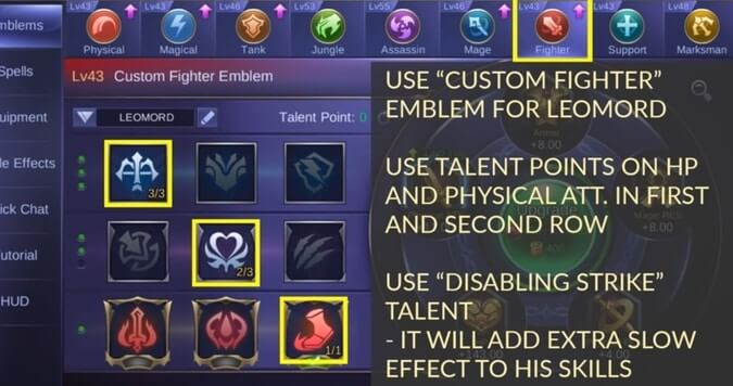 Mobile Legends Leomord - Emblem