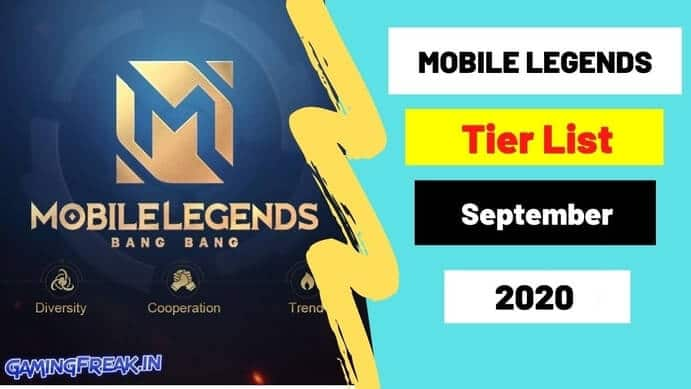 Mobile Legends Tier List September 2020- Who is Best Hero in ML?