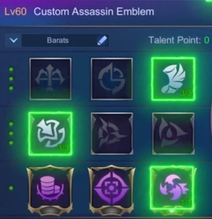 use Assassin Emblem for Barats