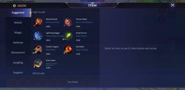 Champions Legion Build Shop Section