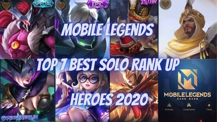 Mobile Legends Top 7 Best Hero in Solo Rank up 2020