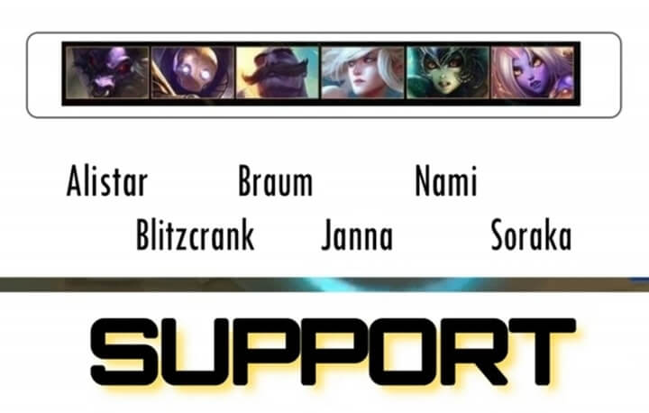 Wild Rift Support Hero list
