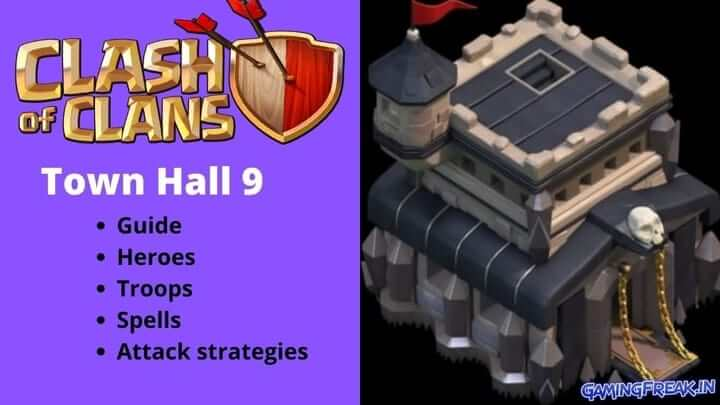 Clash of clans Th 9 Guide & Attack tips