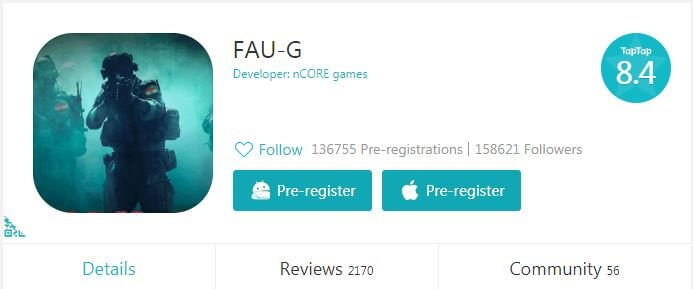 Faug pre register on taptap