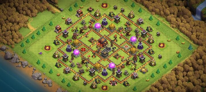 Best TH10 Farming Base 2