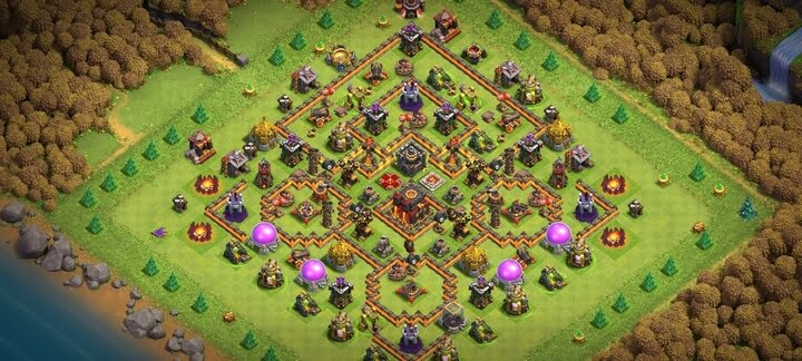 COC TH10 Trophy Base Layout 2020 2