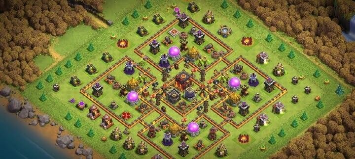 COC TH10 Trophy Base Layout 2020 3