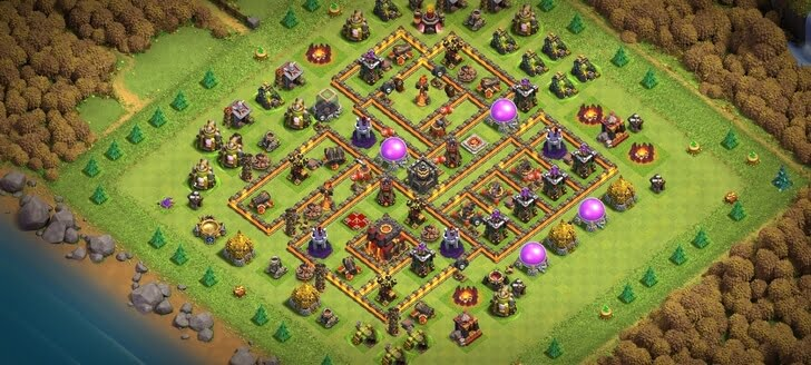COC TH10 Trophy Base Layout 2020
