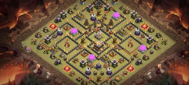th11 war base 10
