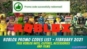 Roblox Promo Codes List