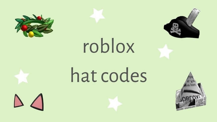 hat codes for roblox