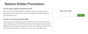 redeem roblox promotions