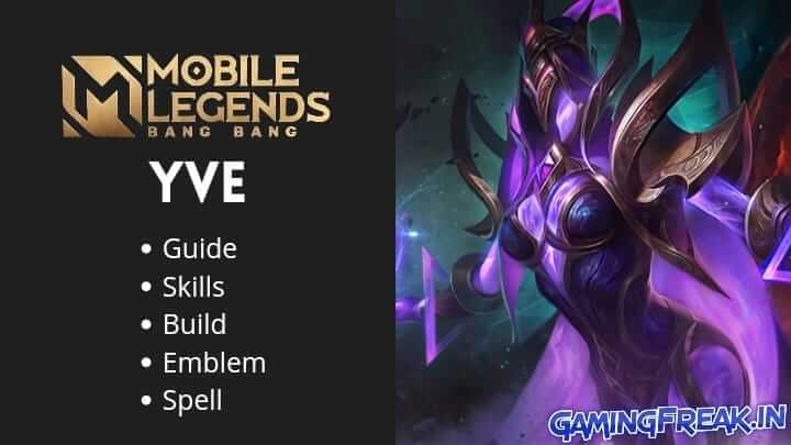 Mobile Legends Yve Best Build 2021| ML Yve Guide 2021