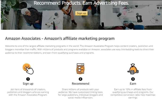 Amazon Share affiliate links