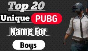 BGMI & PUBG Names for Boys