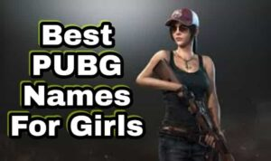 BGMI & PUBG Names for Girls