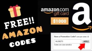 Free Amazon Gift Card Codes List 2021