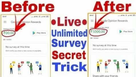 Google Opinion Rewards Hack 2021