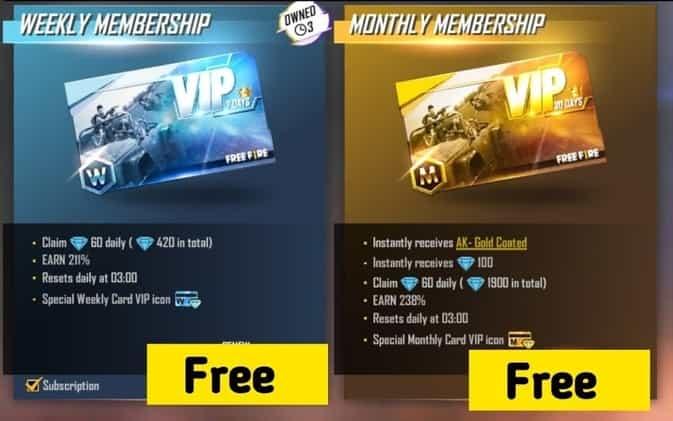 Weekly or Monthly Membership