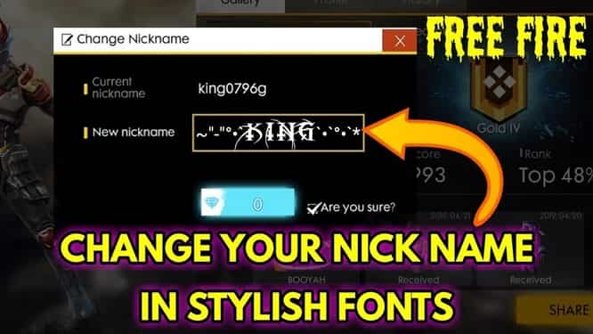 Best Name Free Fire Stylish Name 2021 | Best name for Free Fire 2021